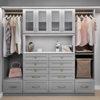 Custom reach in closet in gray