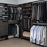 Beautiful mahogany walk in custom closet
