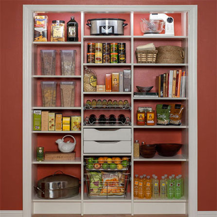 Custom kitchen pantry design for home organization
